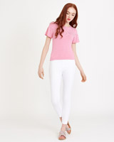 pink Savida Stripe Frill Sleeve Top