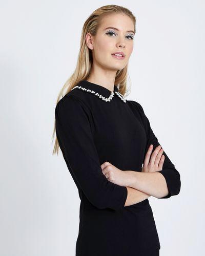 Savida Pearl Collar Top