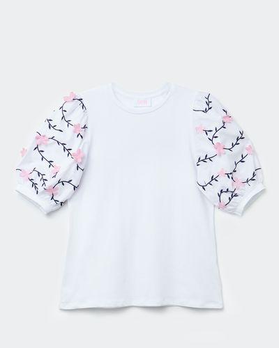 Savida Flower Sleeve T-Shirt