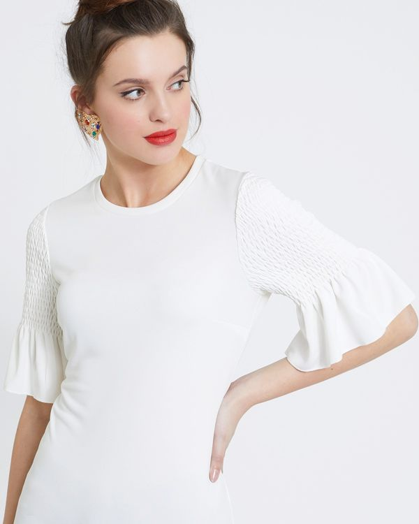 Savida Shirred Sleeve Detail Top