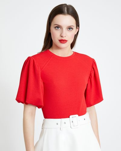 Savida Puff Sleeve Panel T-Shirt