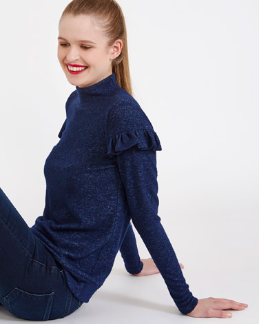 Savida Soft Touch Ruffle Jumper