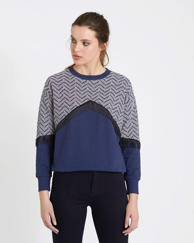 Savida Fringe Jacquard Sweatshirt