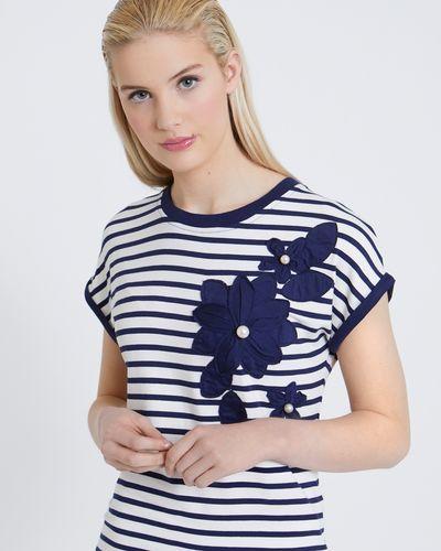 Savida Pearl Flower Stripe T-Shirt