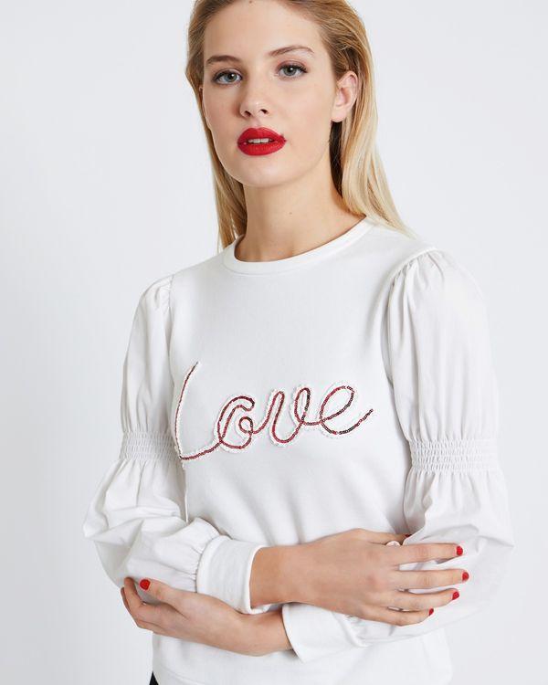 Savida Love Slogan Sweatshirt