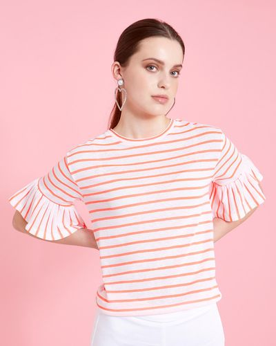 Savida Striped Top With Bell Sleeves