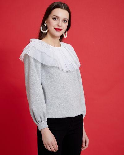 Savida Sheer Neck Sweatshirt