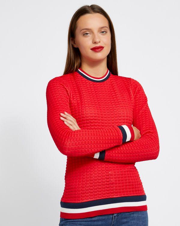 Savida Gigi Bubble Stripe Cuff Top