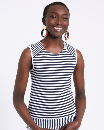 Savida Stripe Sleeveless Top
