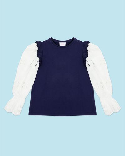 Savida Embroidered Sleeves Sweatshirt thumbnail