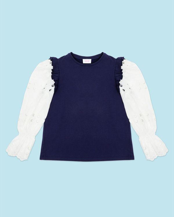 Savida Embroidered Sleeves Sweatshirt
