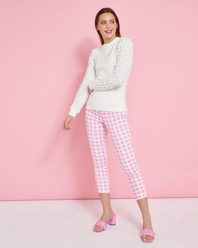 Savida Bubble Texture Sleeve Sweatshirt