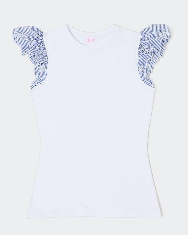 Savida Broidery Anglaise Sleeve Top