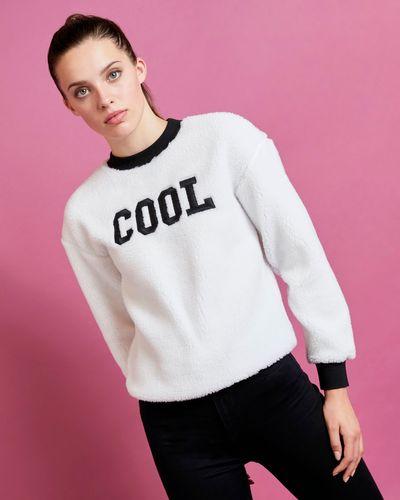 Savida Farrah Teddy Cool Slogan Sweatshirt