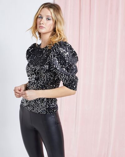 Savida Martha Velvet Sequin Top