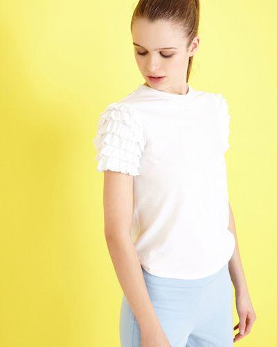 Savida Flounce Ruffle Sleeve T-Shirt thumbnail