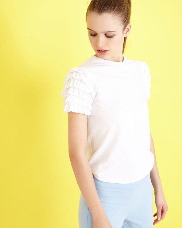 Savida Flounce Ruffle Sleeve T-Shirt