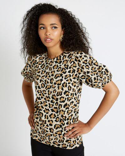 Savida Jacquard Leopard Top
