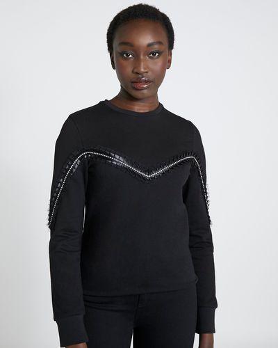 Savida Diamante Pleat Front Sweatshirt