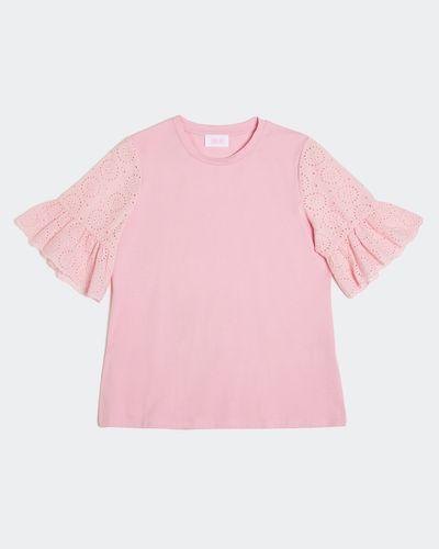 Savida Lace Sleeve Jersey Top