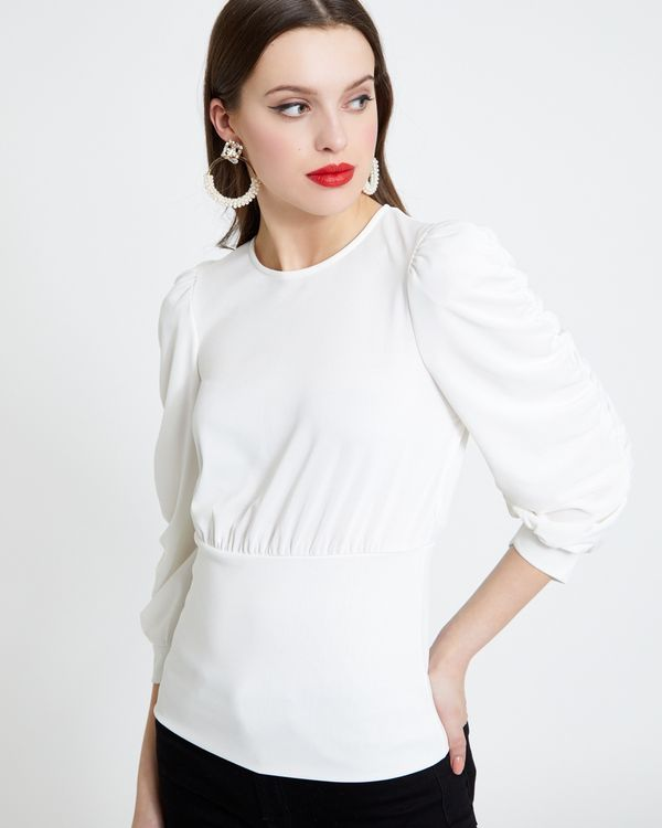 Savida Ruched Sleeve Top