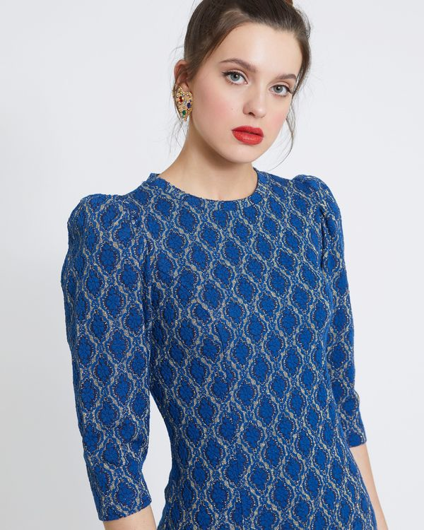 Savida Flower Pattern Lurex Top