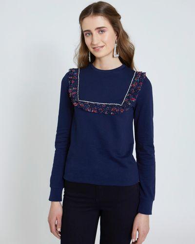 Savida Diamante Floral Sweatshirt