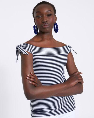 Savida Bardot Stripe Top
