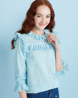 ice-blue Savida Crochet Top