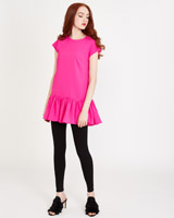 fuchsia Savida Drop Hem Top