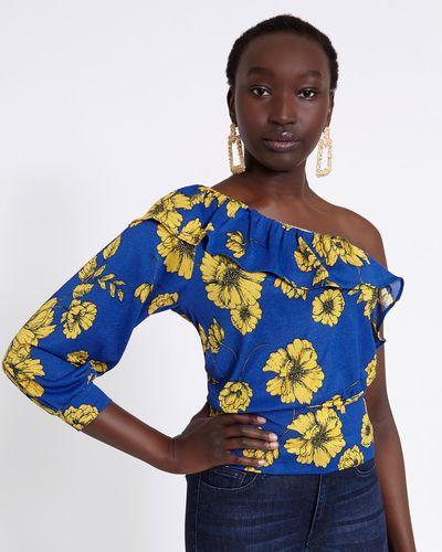 Savida One Shoulder Floral Top