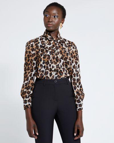 Savida Leopard Print Blouse With Lurex