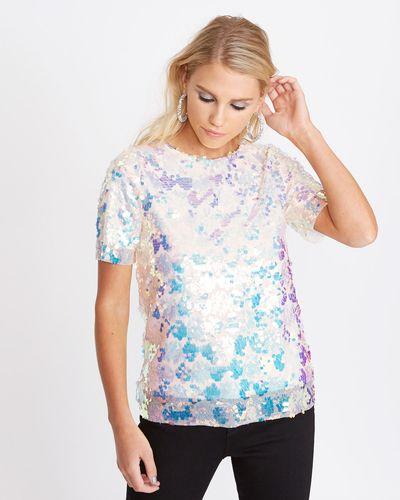 Savida Tulle Sequin T-Shirt  thumbnail