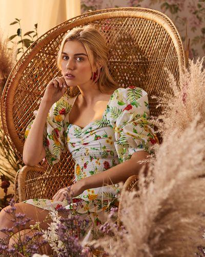 Savida Floral Print Woven Top