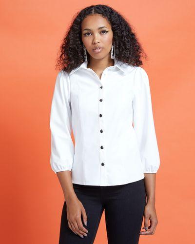 Savida PU Shirt With Silver Buttons