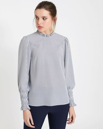 Savida Cross Pattern Blouse