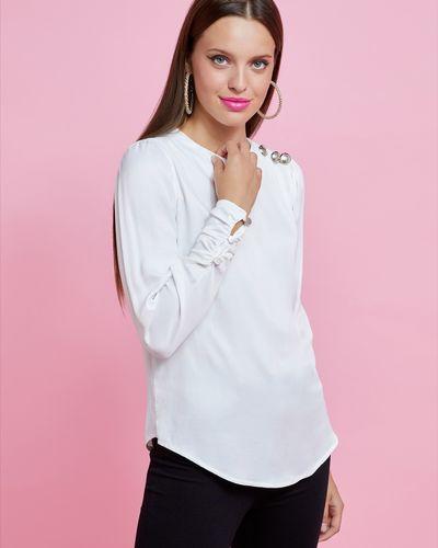 Savida Button Shoulder And Cuff Blouse