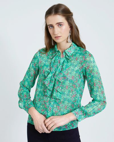 Savida Floral Lurex Print Blouse