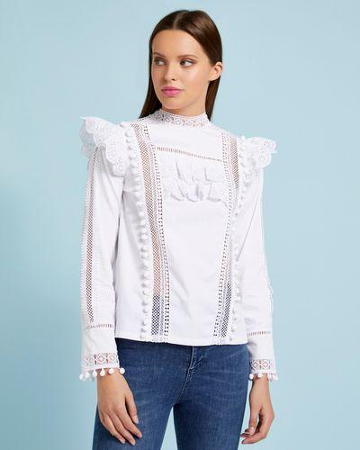 Savida Pom Pom Blouse With Lace