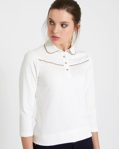 Savida Beaded Front Blouse