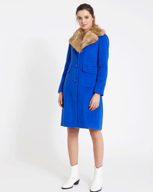 Savida Faux-Fur Collar Coat