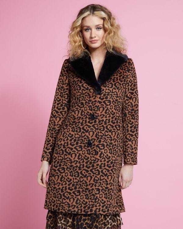Savida Leopard Coat