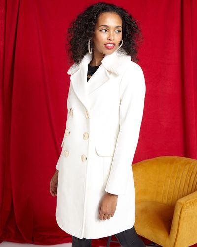 Savida Double Breasted Coat With Collar thumbnail