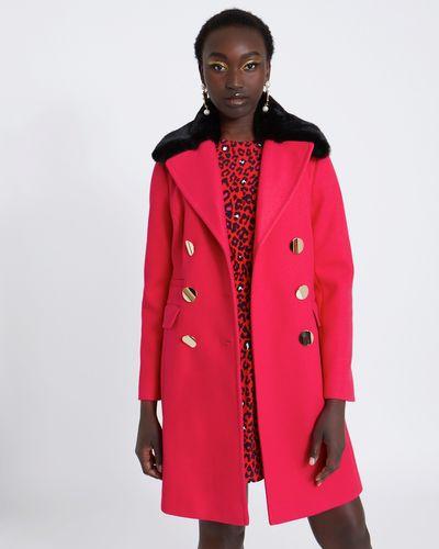 Savida Double Breasted Coat With Collar