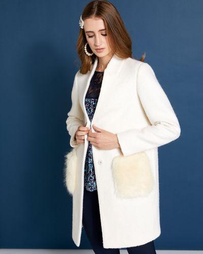 Savida Faux Fur Pocket Coat