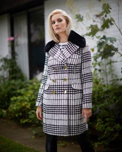 Savida Victoria Check Coat
