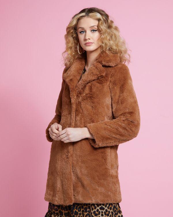 Savida All Over Faux Fur Coat