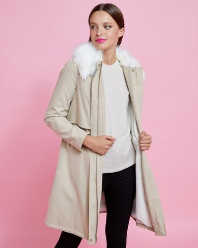 Savida Fur Lined Parka Jacket thumbnail