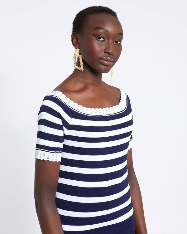 Savida Bardot Stripe Jumper