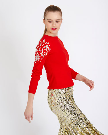 redSavida Wildfire Embellished Jumper